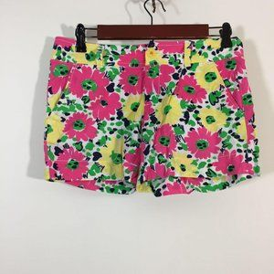 Lilly Pulitzer Shorts Women Size 0 Floral Chino
